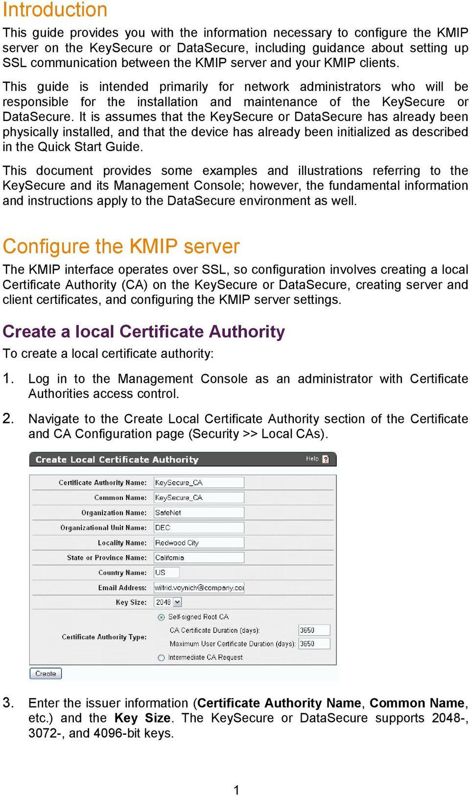 KMIP installation Guide  DataSecure and KeySecure Version