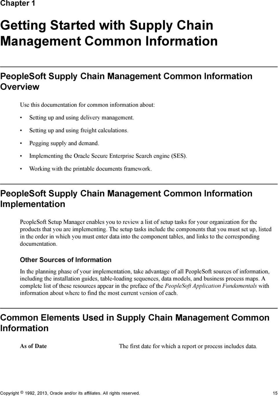 PeopleSoft FSCM 9 2: Supply Chain Management Common