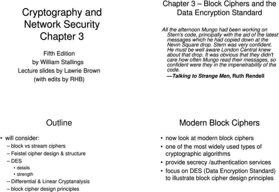 Cryptography and Network Security Chapter 3 - PDF