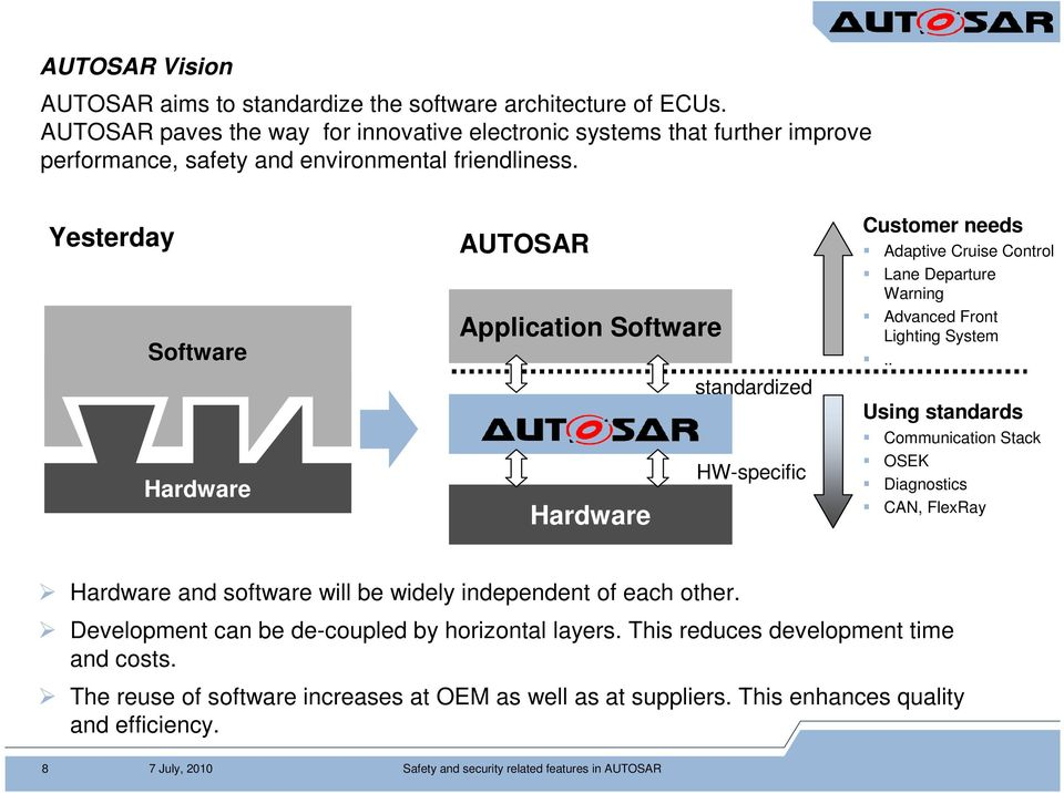 Safety and security related features in AUTOSAR - PDF