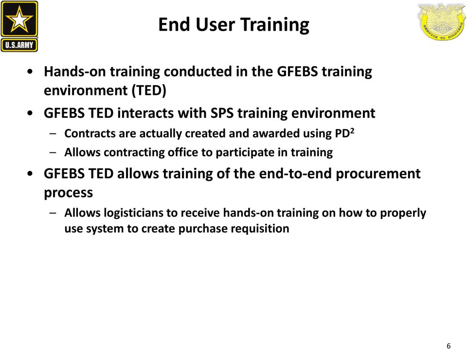 Usafmcom System Support Operations Sso Gfebs Training Army Day