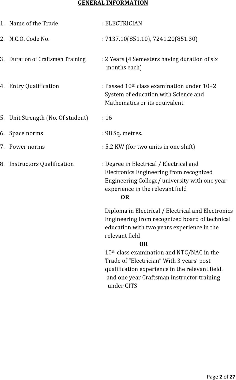 E L C T R I A N Pdf Gcse Physics How Does Circuit Breaker Work What Is An Mcb Entry Qualification Passed 10 Th Class Examination Under 2 System Of Education With