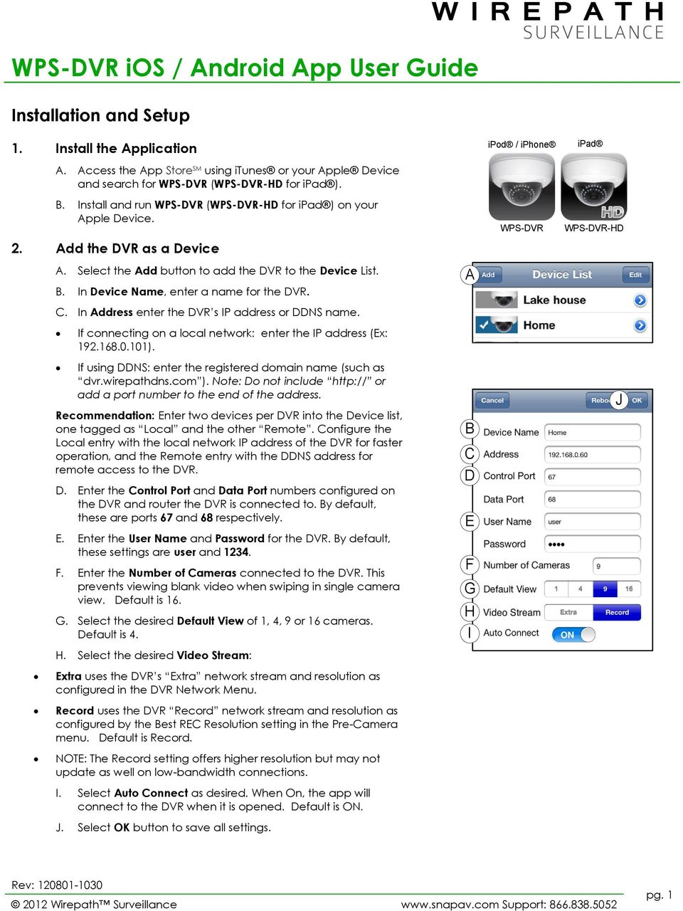 WPS-DVR ios / Android App User Guide - PDF