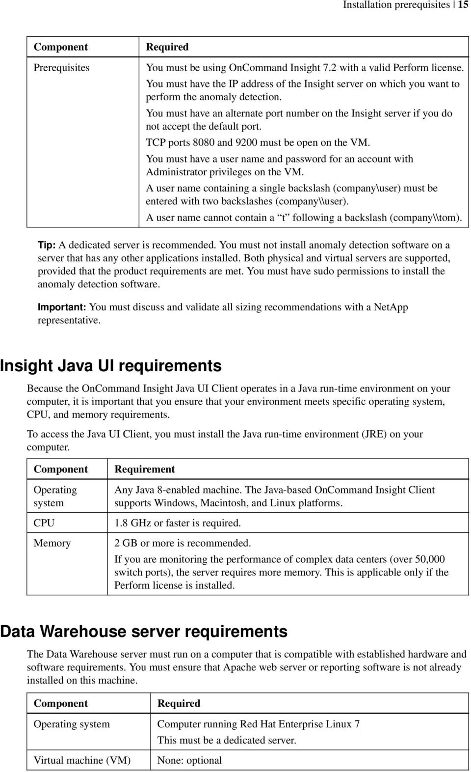 OnCommand Insight 7 2  Installation Guide  For Red Hat Enterprise