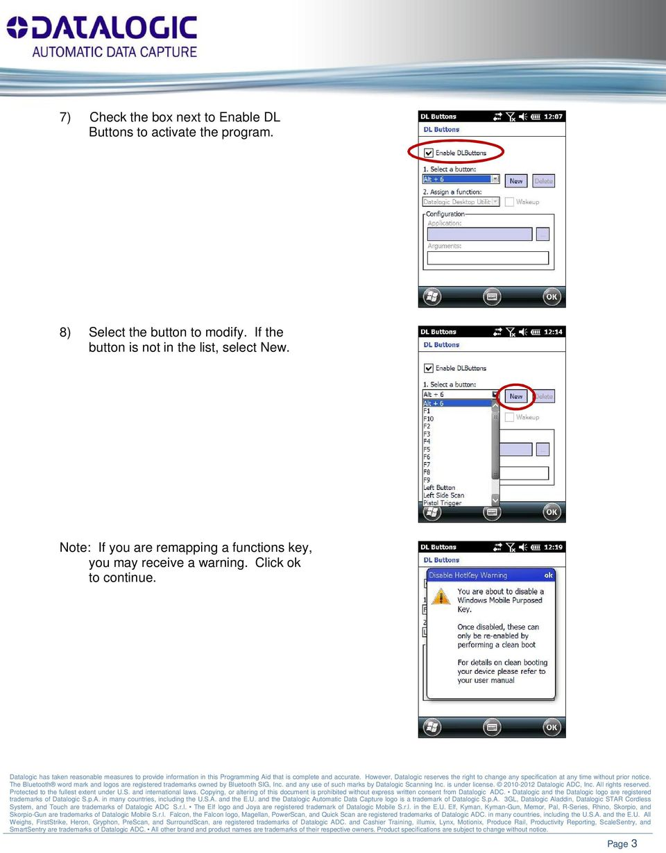 Reassigning Key Functions on Elf or Falcon X3 Windows Mobile