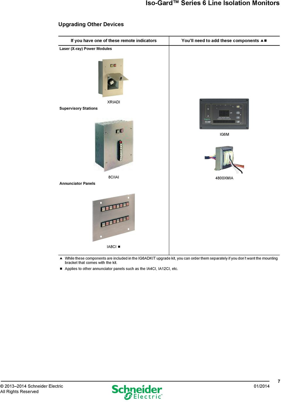 Iso Gard Series 6 Line Isolation Monitors Pdf Dorani Intercom Wiring Diagram Included In The Ig6adkit Upgrade Kit You Can Order Them Separately If Don T