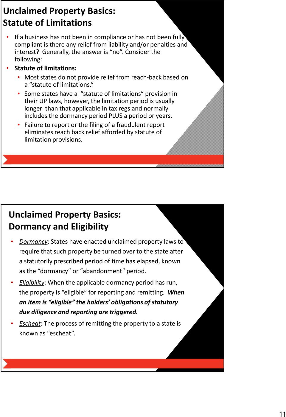 Unclaimed Property Update: Compliance with Escheatment