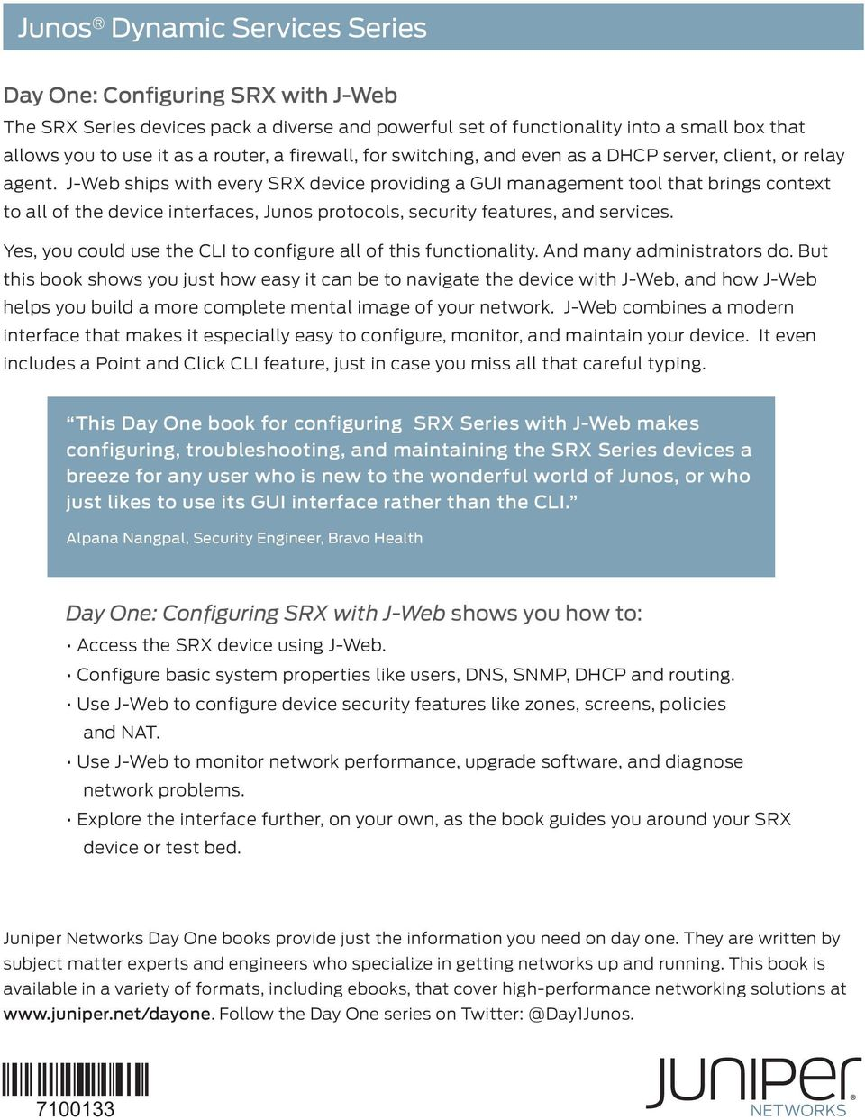 DAY ONE: CONFIGURING SRX SERIES WITH J-WEB - PDF
