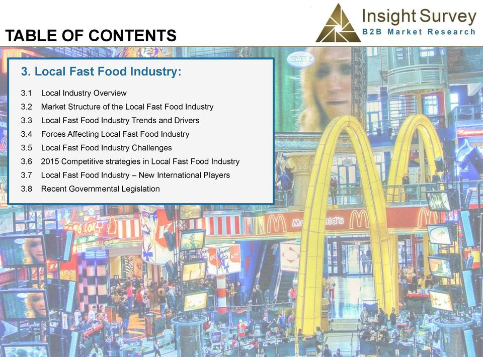 fast food industry challenges