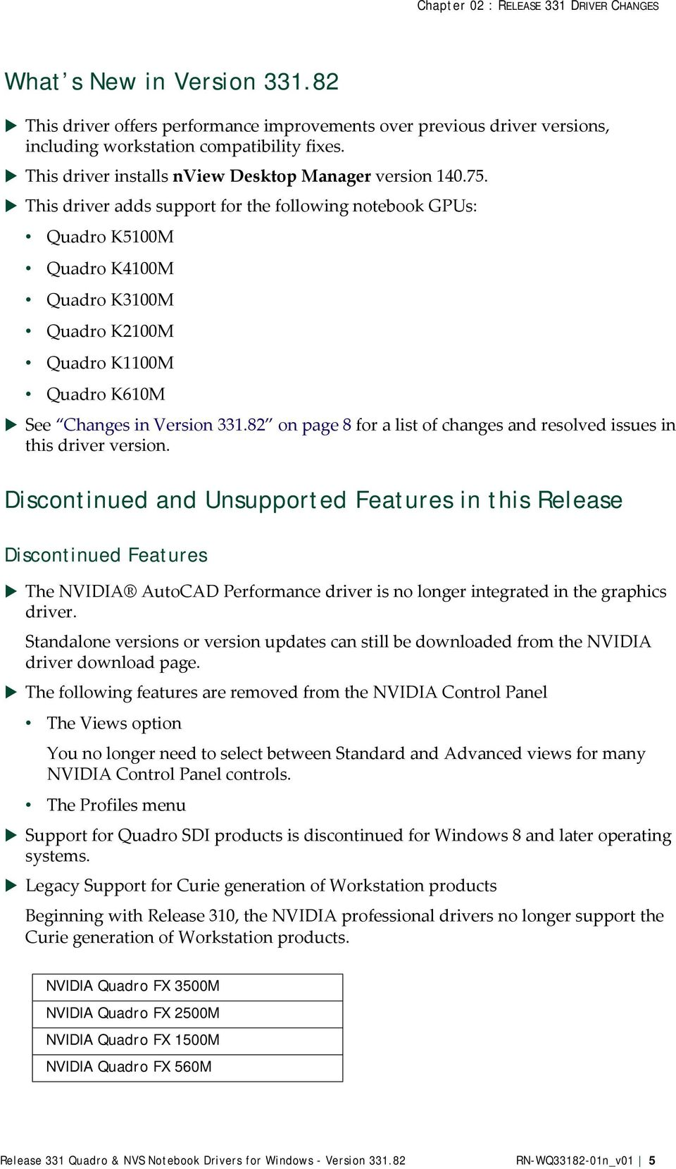 Release 331 Quadro & NVS Notebook Drivers for Windows