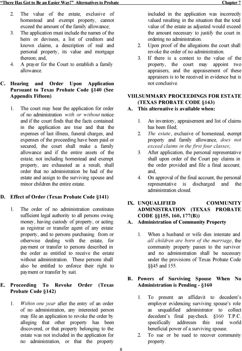 THERE HAS GOT TO BE AN EASIER WAY! ALTERNATIVES TO PROBATE - PDF