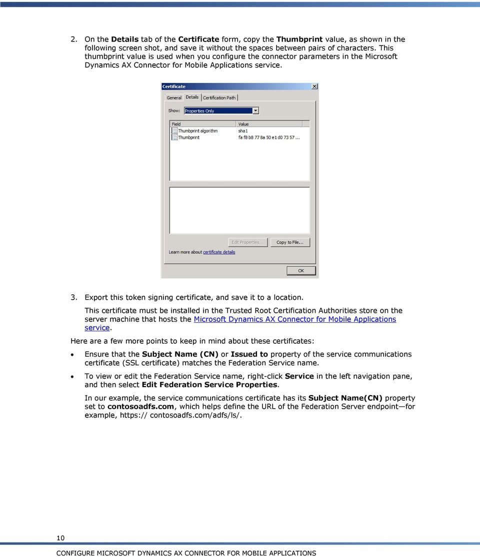 Configure Microsoft Dynamics Ax Connector For Mobile Applications Pdf