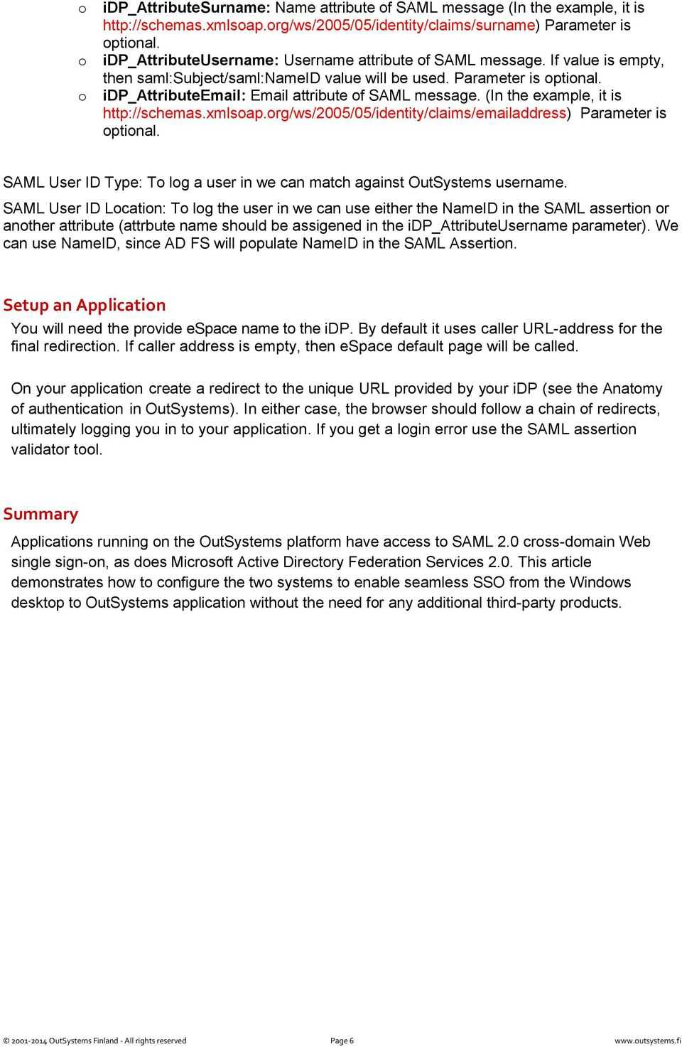 idp Connect for OutSystems applications - PDF