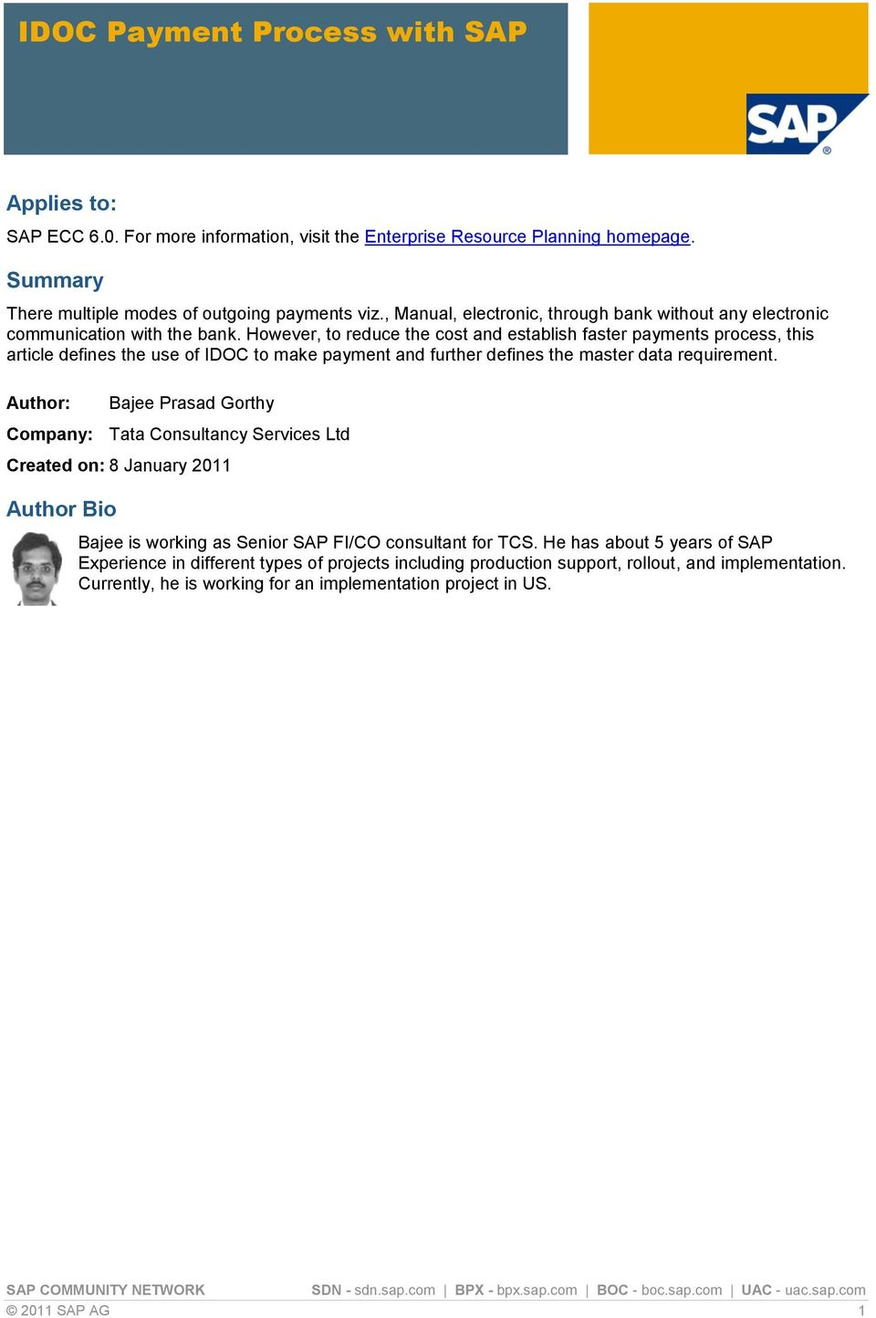 IDOC Payment Process with SAP - PDF