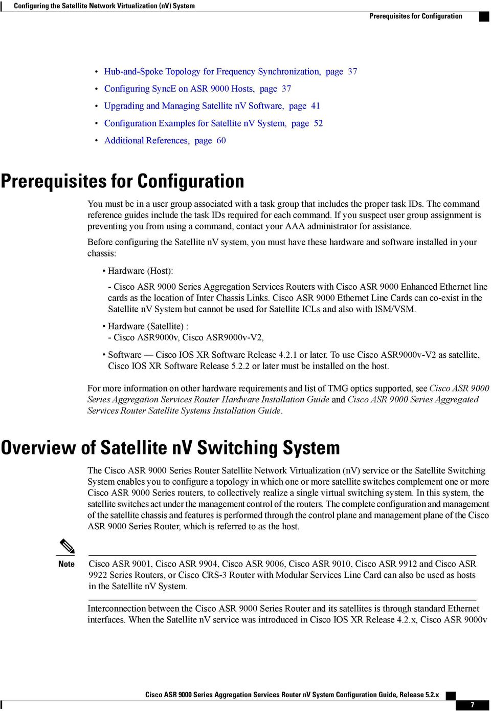 Configuring the Satellite Network Virtualization (nv) System