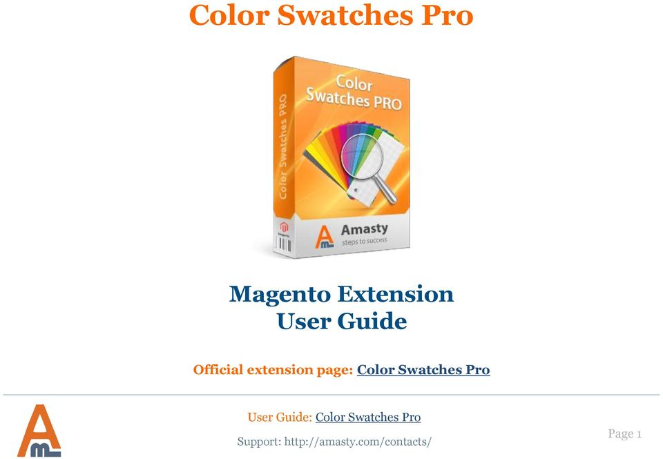Color Swatches Pro  Magento Extension User Guide  Official