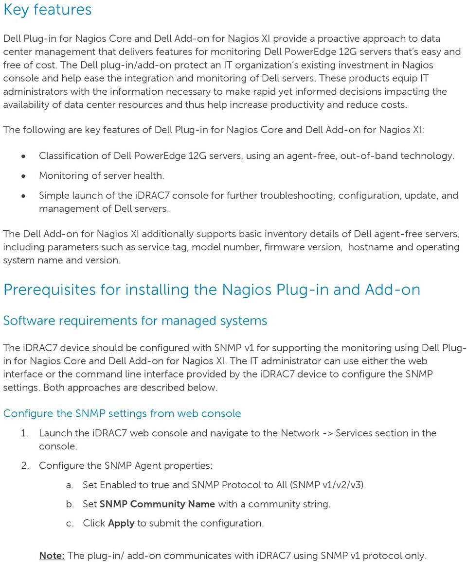 Agent-free Monitoring of Dell PowerEdge 12G Servers in