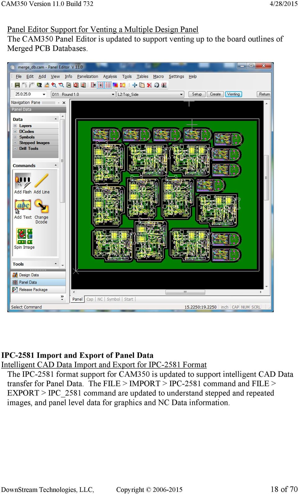 release highlights for cam350 product version pdfipc 2581 import and export of panel data intelligent cad data import and export for