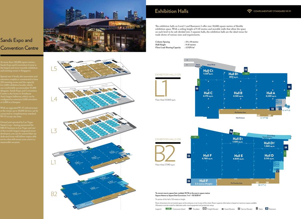 Floor Plans Sands Expo And Convention Centre Pdf Free Download