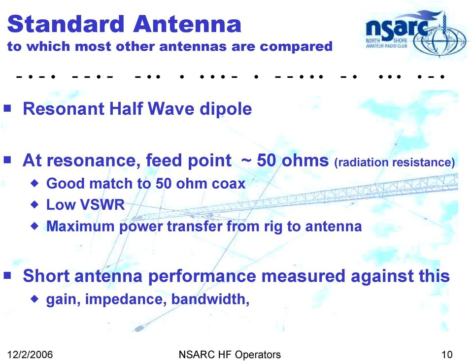 Small HF Antennas ! The Small Space and Big Antenna Dilemma