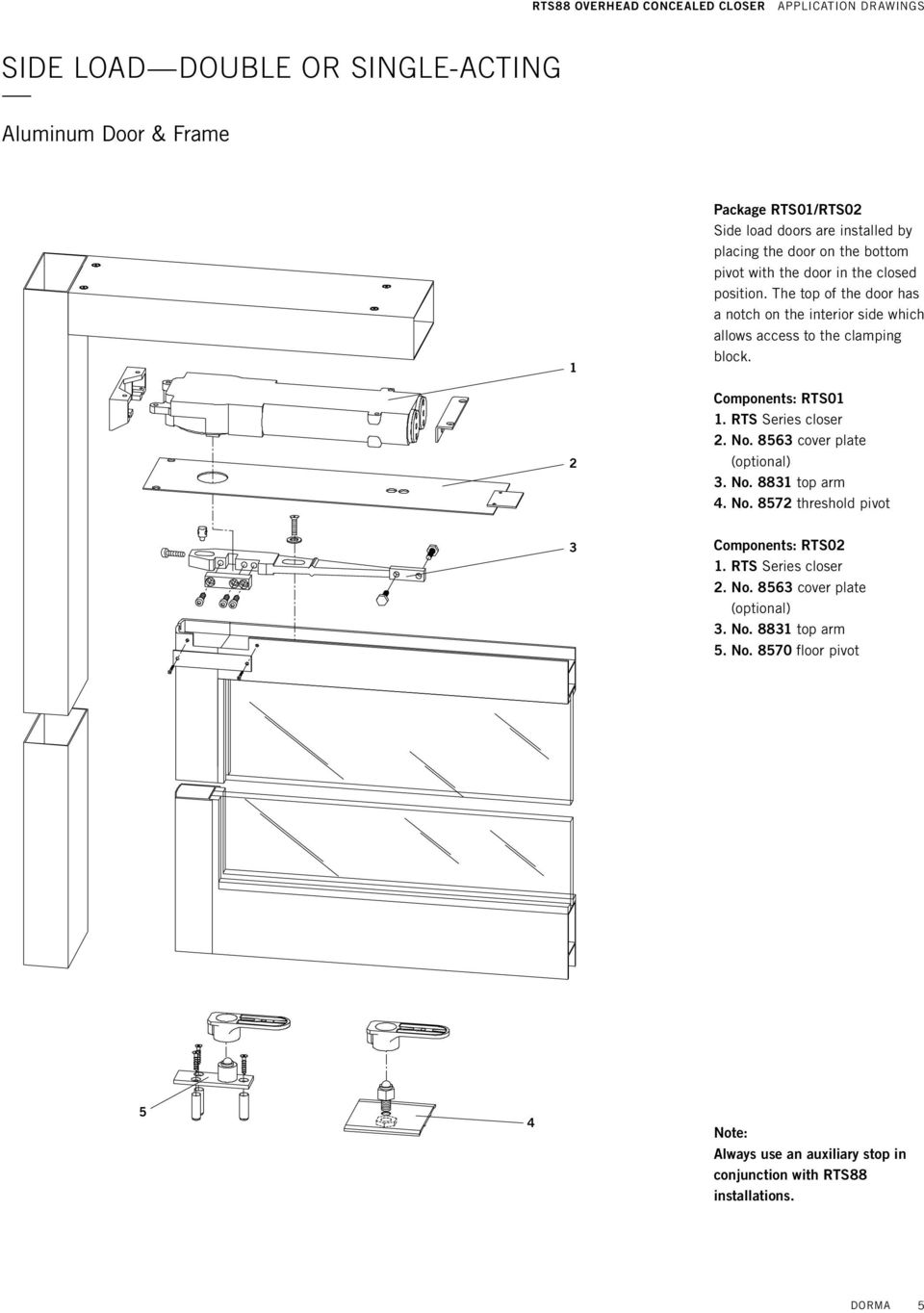 NEW NEW Dorma RTS 88 Concealed Closer Bodies-