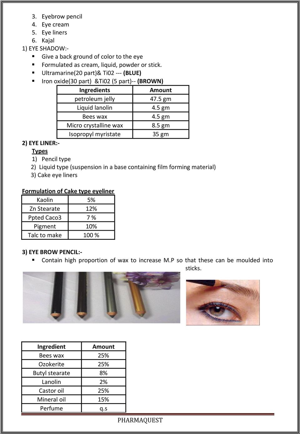 FORMULATION AND EVALUATION OF VARIOUS COSMETIC AND DENTAL