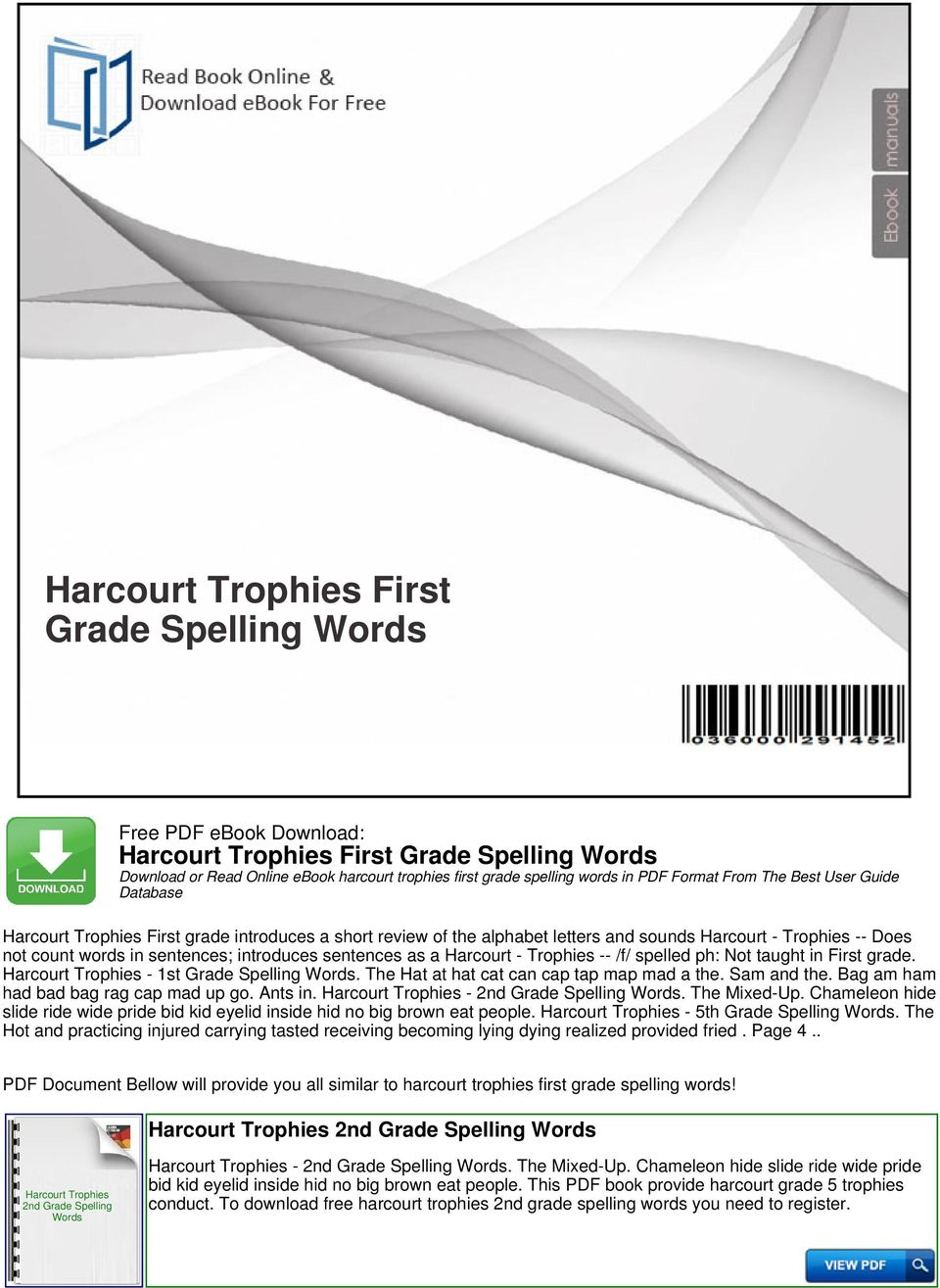 Harcourt trophies first grade spelling words pdf spelled ph not taught in first grade 1st grade spelling words the fandeluxe Choice Image