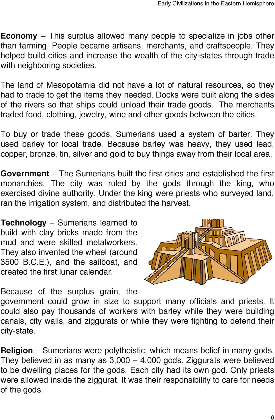 mesopotamia technology inventions