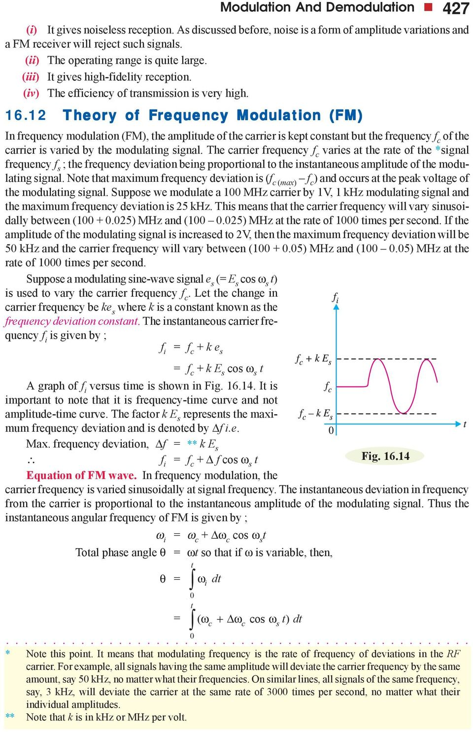 Modulation And Demodulation Pdf Frequency Fm Tutorial Electronics Modulator 1 Theor Heory Y Of Frequenc Equency In