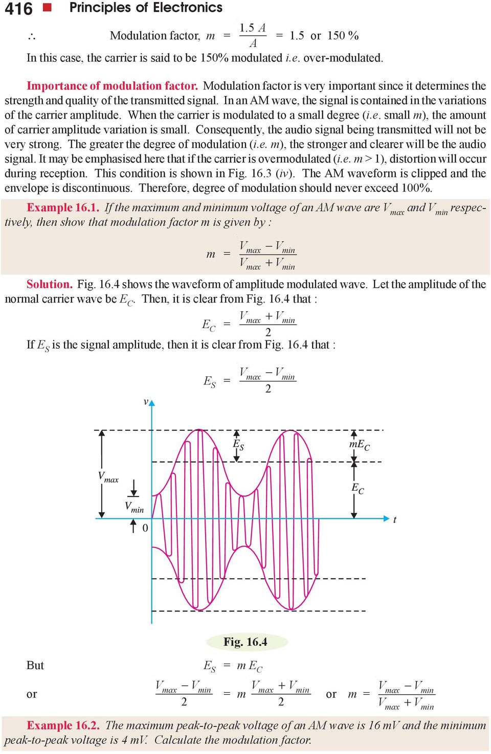 Modulation And Demodulation Pdf Frequency Fm Tutorial Electronics Modulator When The Carrier Is Modulated To A Small Degree Ie M