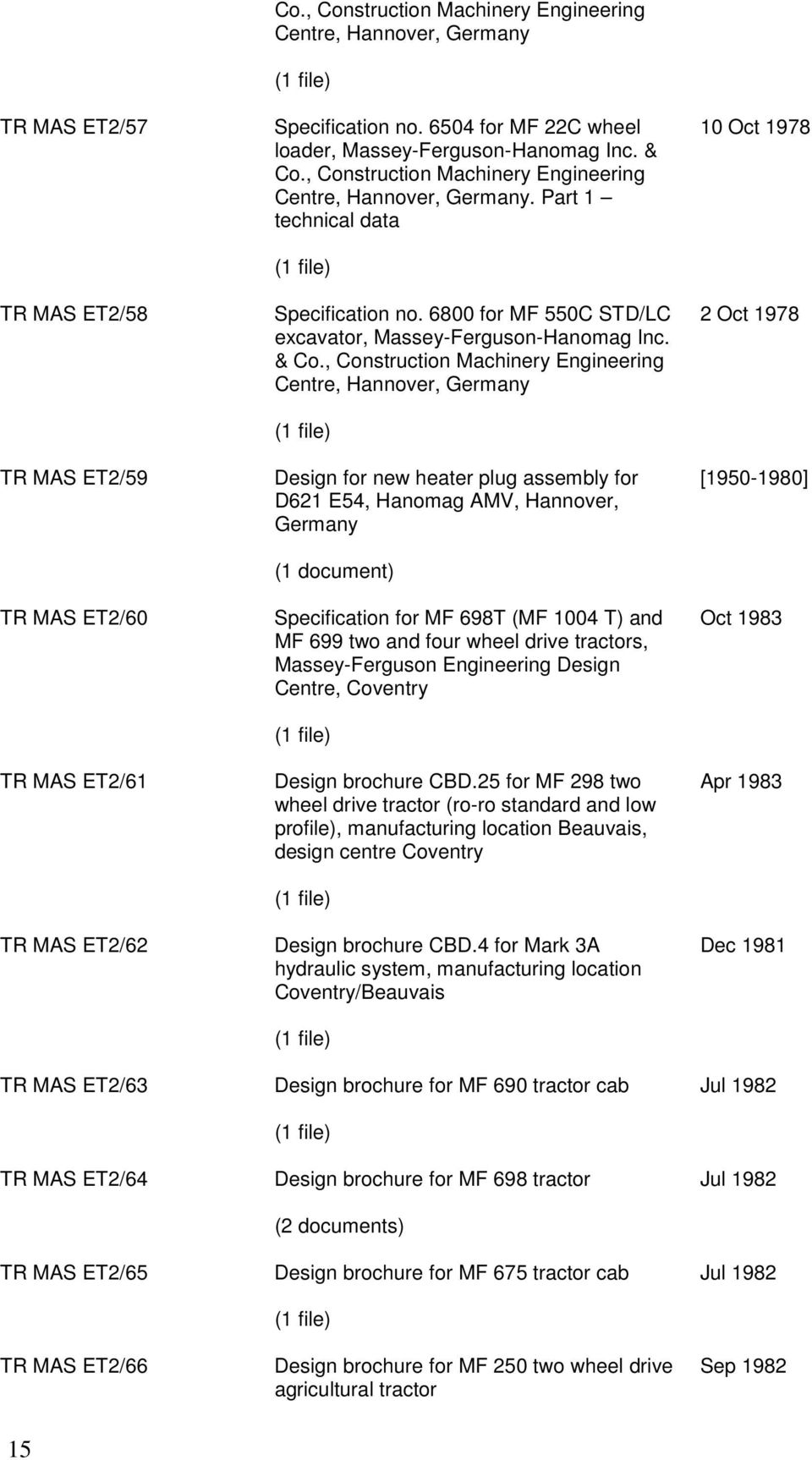 Construction Machinery Engineering Centre, Hannover, Germany. Part 1  technical data (1