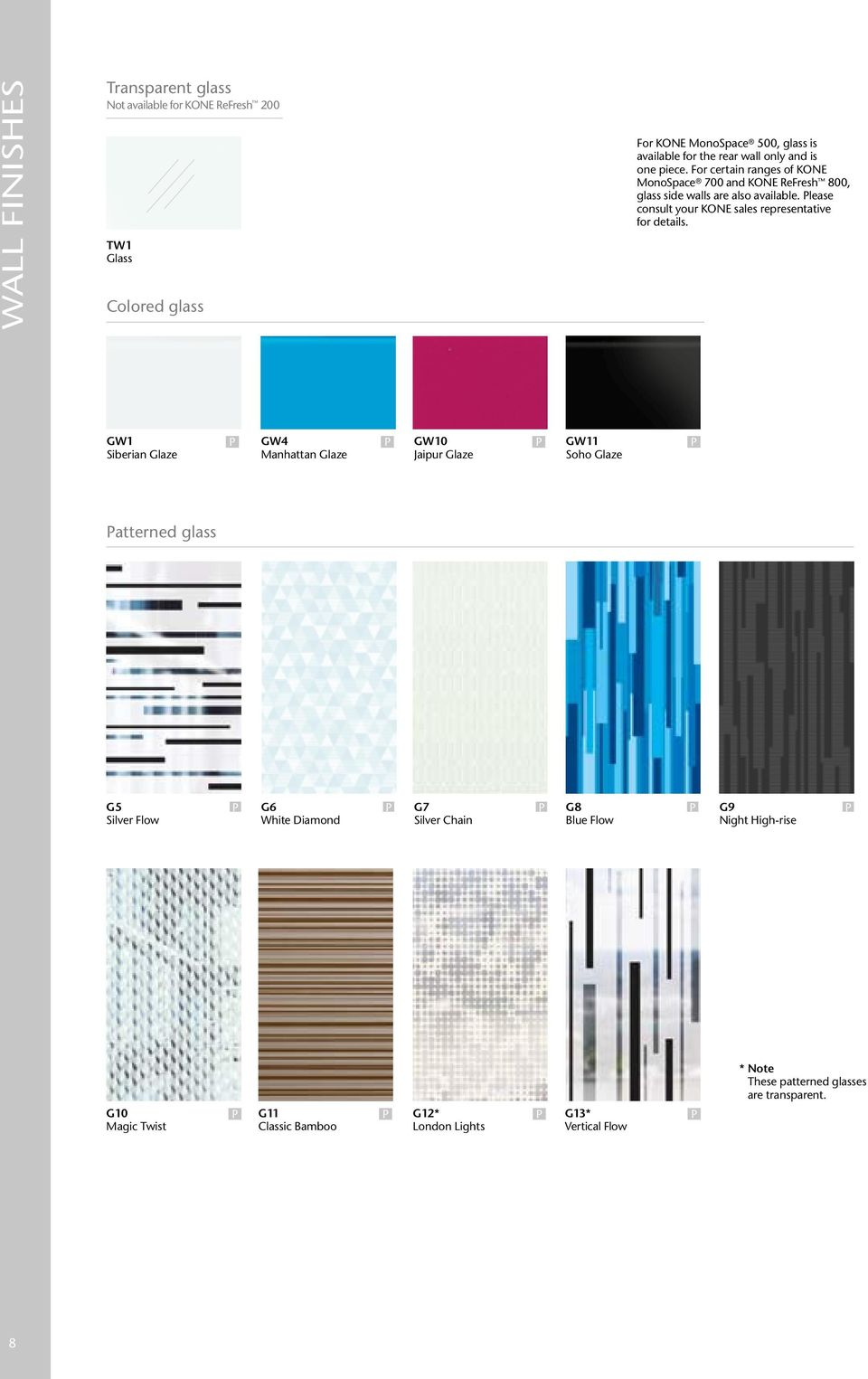 KONE DESIGN COLLECTION  Materials and accessories - PDF