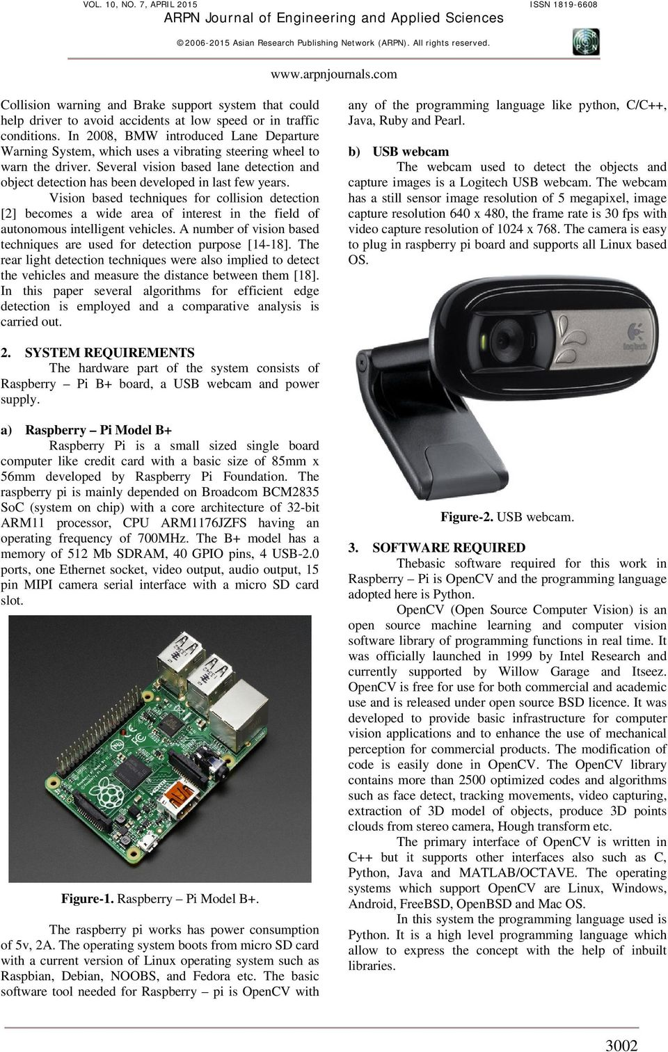 RASPBERRY PI BASED COST EFFECTIVE VEHICLE COLLISION AVOIDANCE SYSTEM