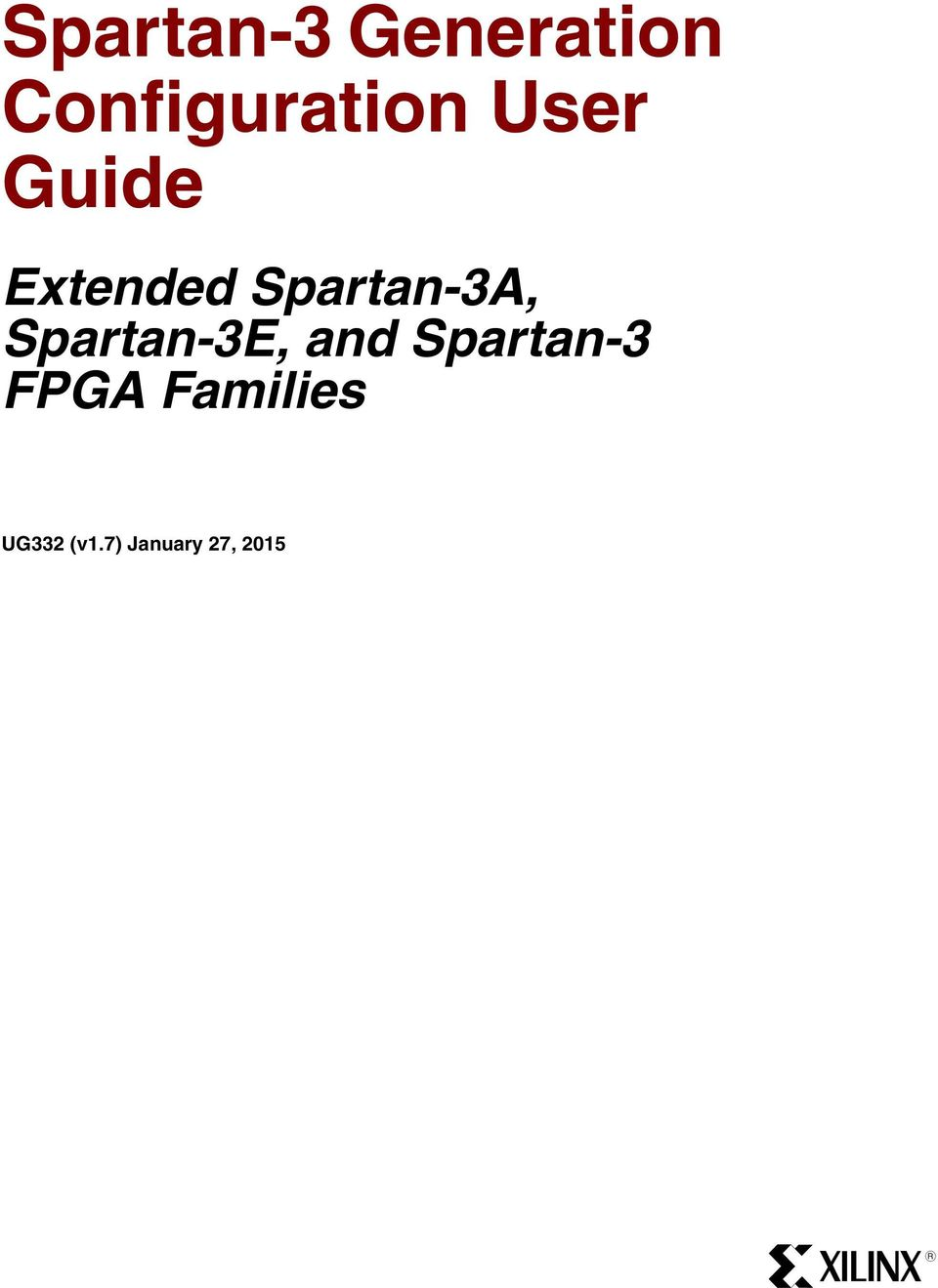 Spartan 3 Generation Configuration User Guide Pdf 300 Sewer Machine Wire Diagram Extended 3a