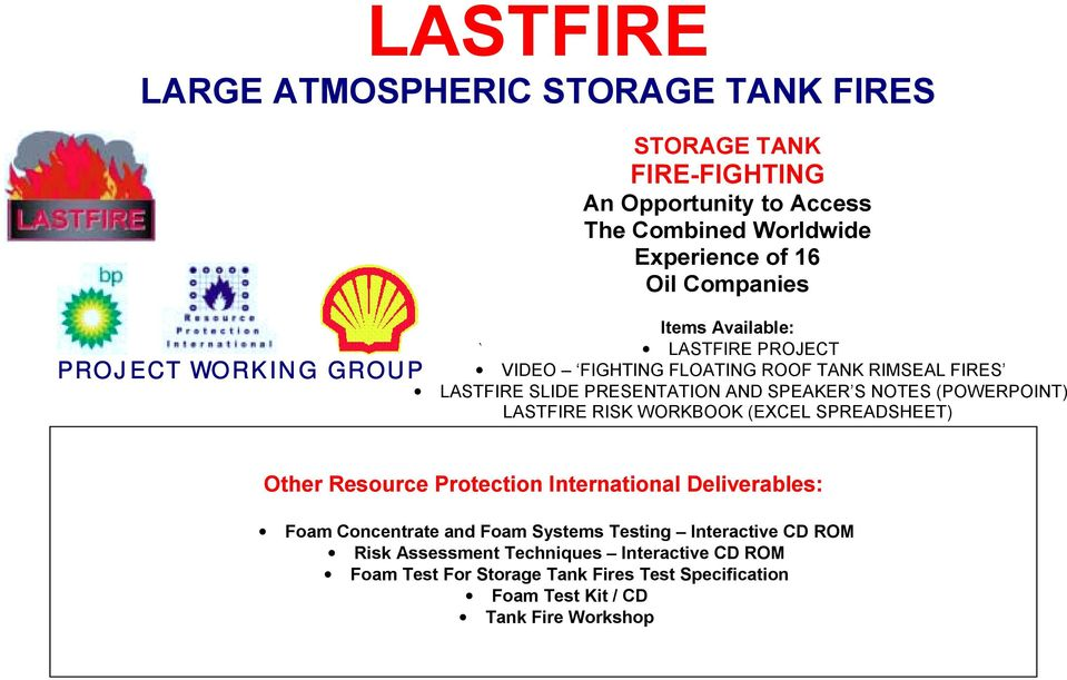 LASTFIRE LARGE ATMOSPHERIC STORAGE TANK FIRES - PDF
