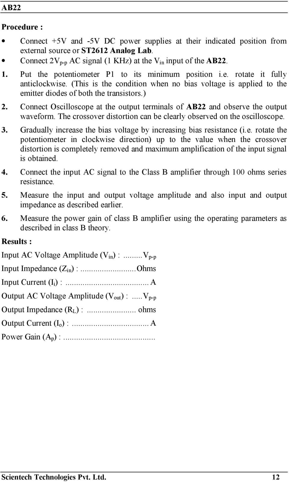 Operating Manual Ver Pdf Class D Amplifier Circuit Lm1036 Tone Controlled Irs2092 Connect Oscilloscope At The Output Terminals Of Ab22 And Observe Waveform Crossover