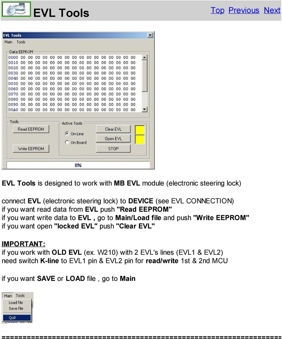 WARNING ALL OPERATIONS WITH EIS / KEY / EVL / GEARBOX ECU YOU MAKE