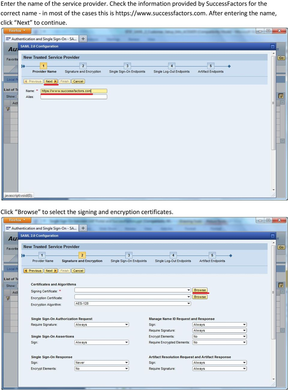 Single Sign-On between SAP Portal and SuccessFactors - PDF