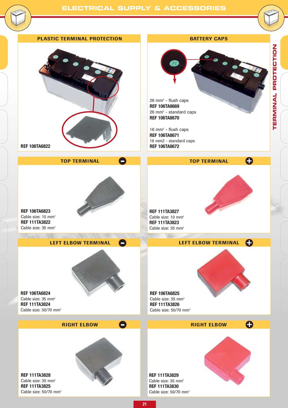 Electrical Supply Accessories Batteries Pdf Wiring Diagram For Stand Alone Charger Oil Kit Size 35 Mm 2 Left Elbow Terminal Ref 106ta6824 Cable