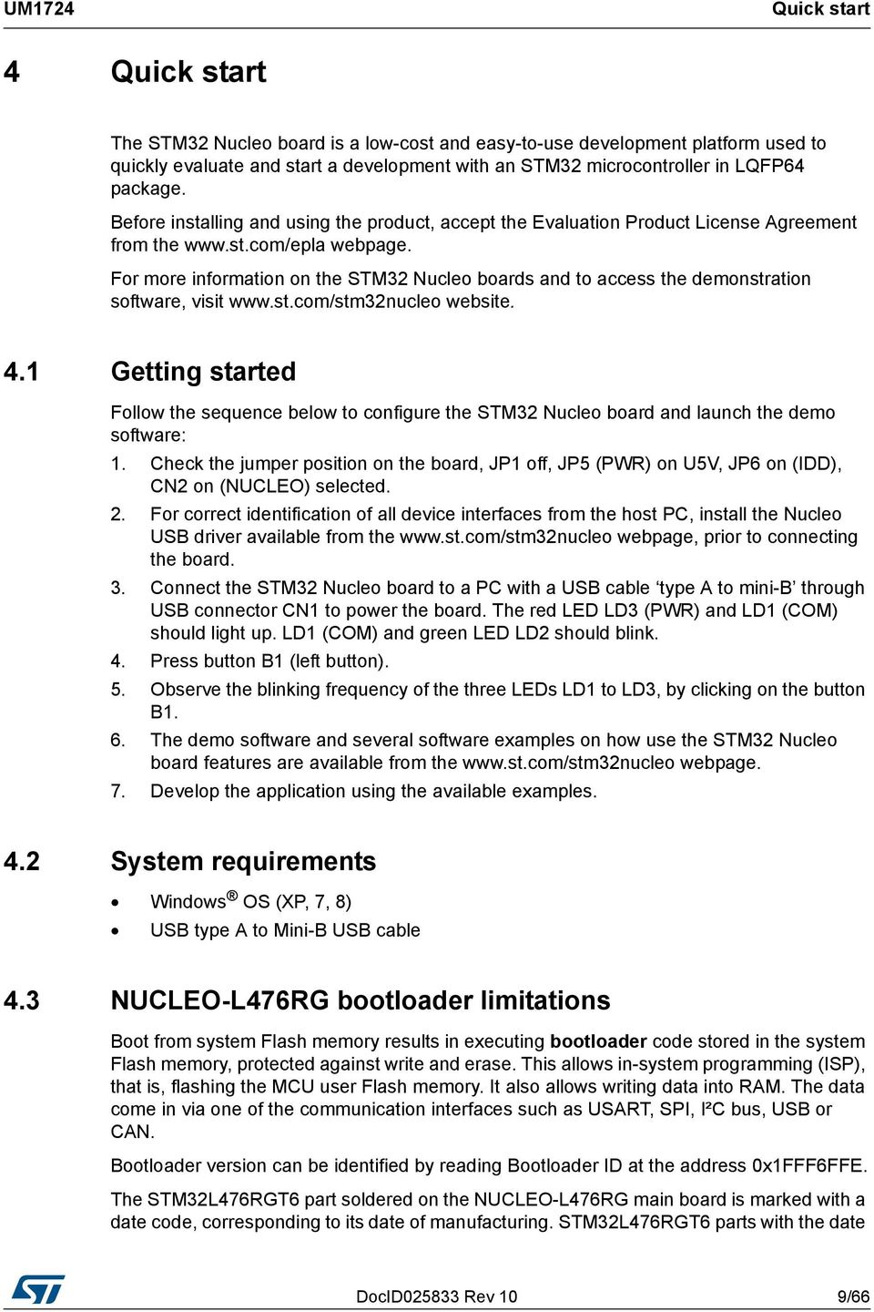 UM1724 User manual  STM32 Nucleo-64 boards  Introduction - PDF