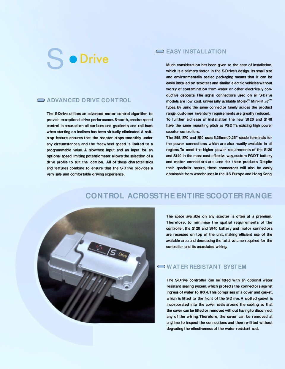 ADVANCED SCOOTER CONTROL SYSTEMS PG DRIVES TECHNOLOGY - PDF