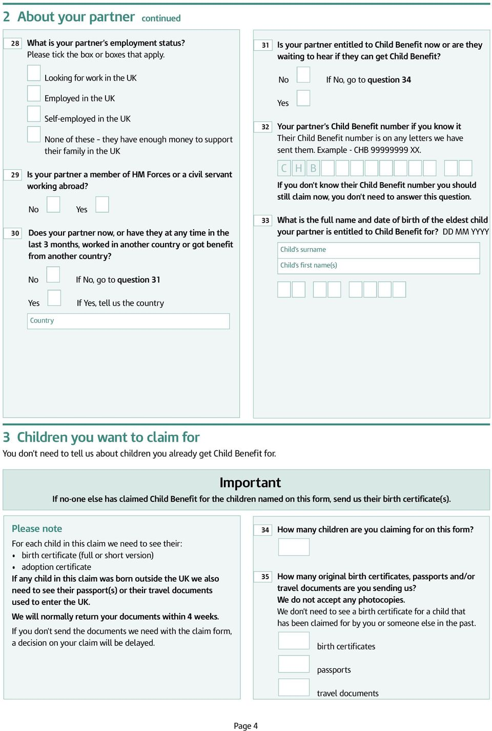 How to get child benefits 61