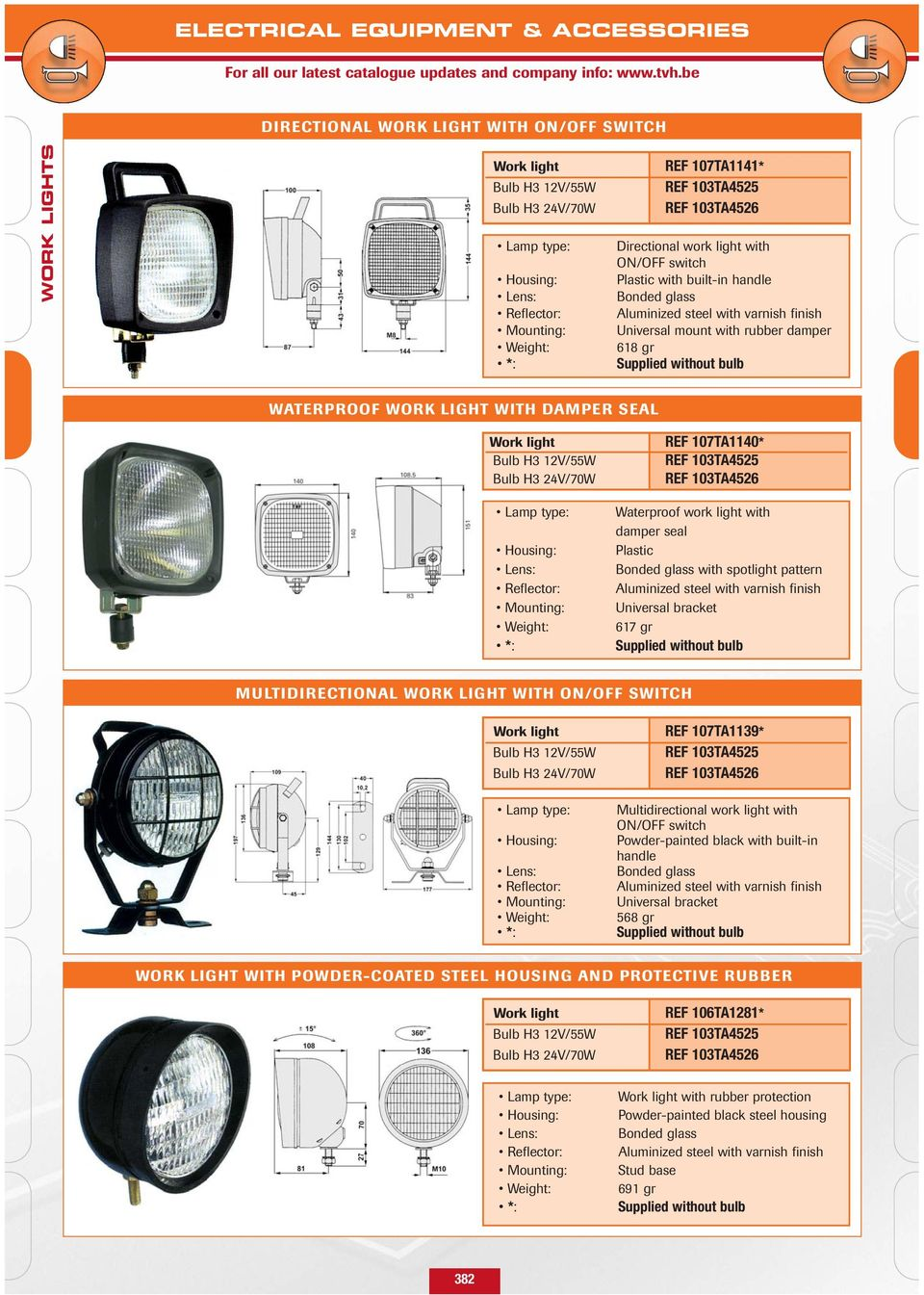 Tvh Has A Large Stock Of Pdf 24v Spotlight Wiring Diagram H3 12v 55w Bulb 70w Weight Ref 107ta1140