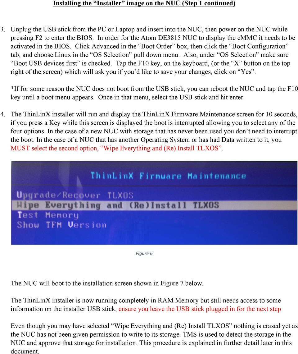 ThinLinX TLXOS 64-bit Firmware Installation Guide for the Intel NUC