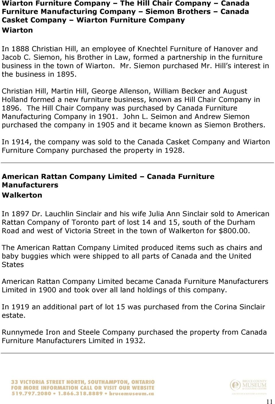 Furniture Factories Information Sheet - PDF
