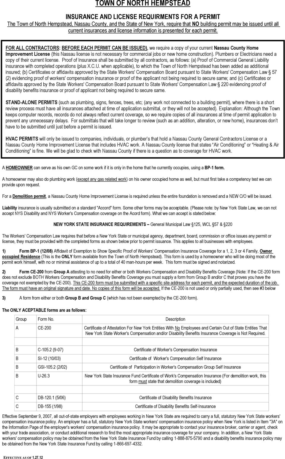 PLUMBING PERMIT REQUIREMENTS AND CHECKLIST - PDF