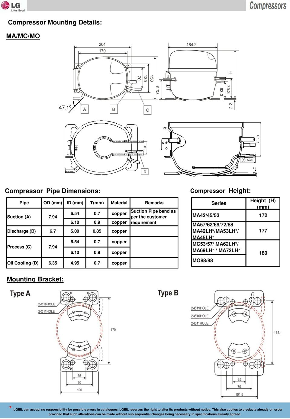 Lg Refrigeration Compressors Refrigerants R 134a 600a Hermetic Refrigerator Electrical Wiring Diagram Pdf 9 Copper Discharge B 67 500 085 Process C 794 654