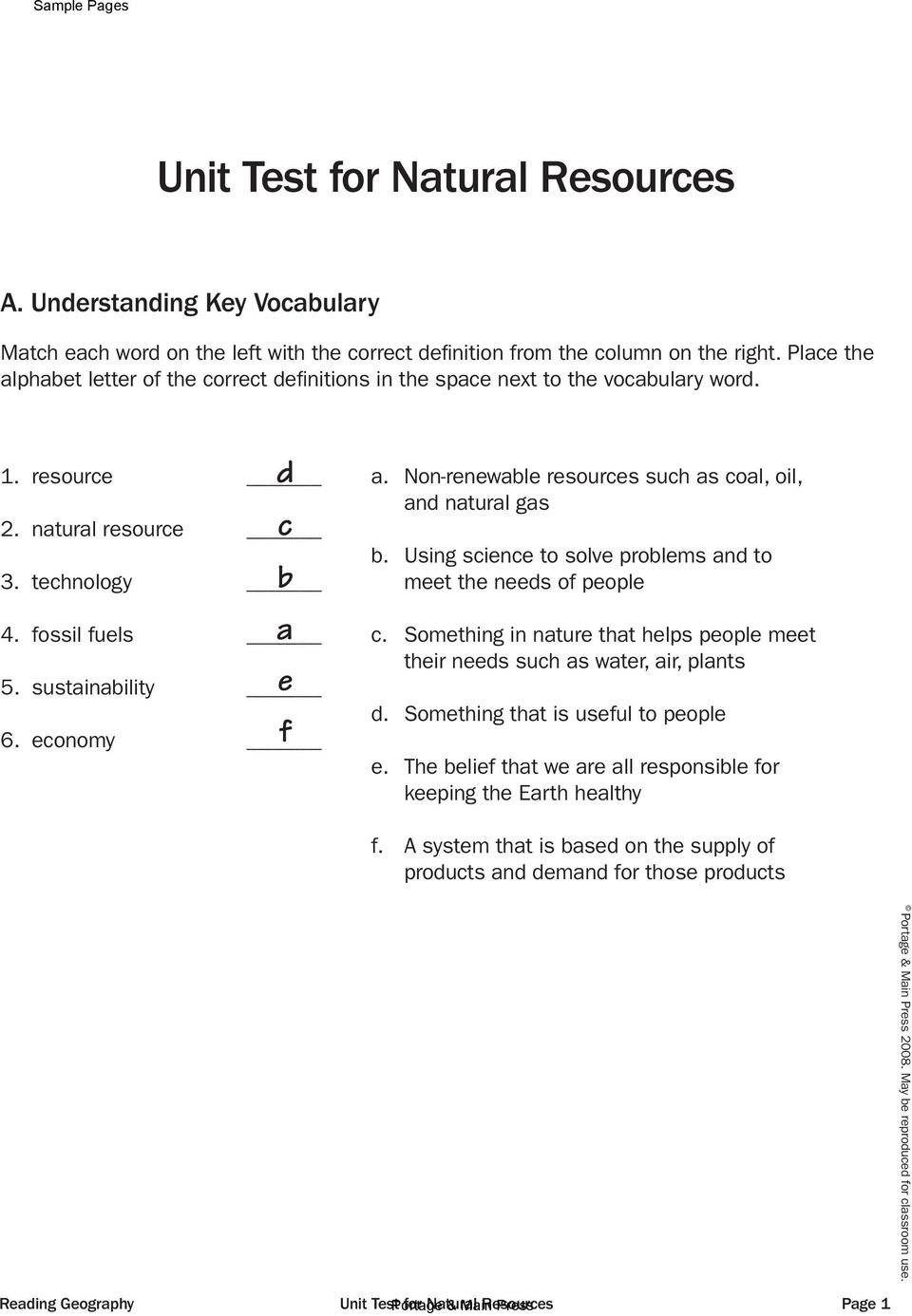 Non-renewable resources such as coal, oil, and natural gas b. Using