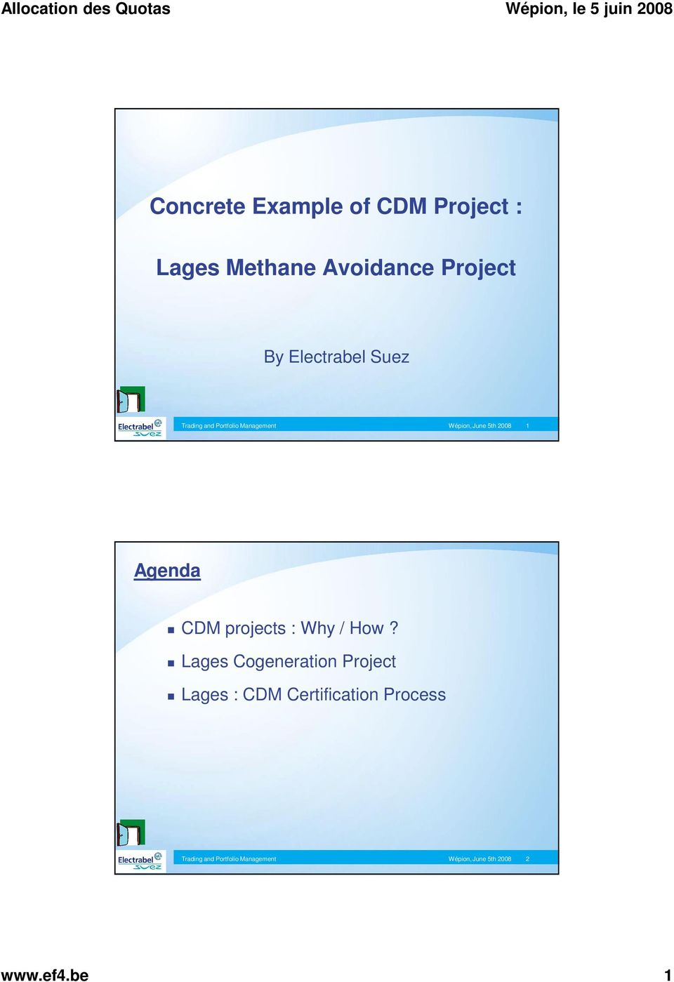 Concrete Example Of Cdm Project Lages Methane Avoidance Project Pdf