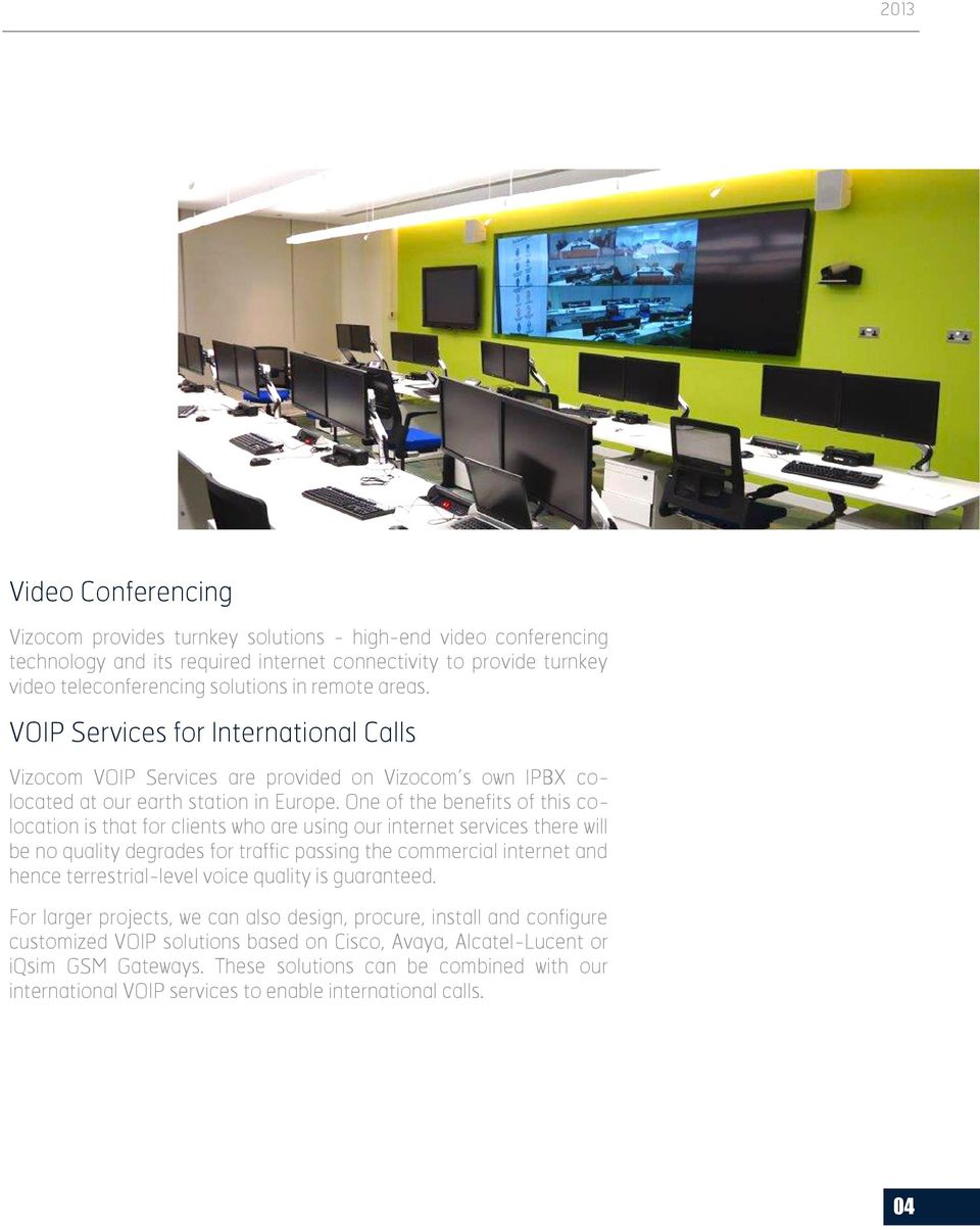 Vizocom focuses in Innovative Solutions to match your needs - PDF